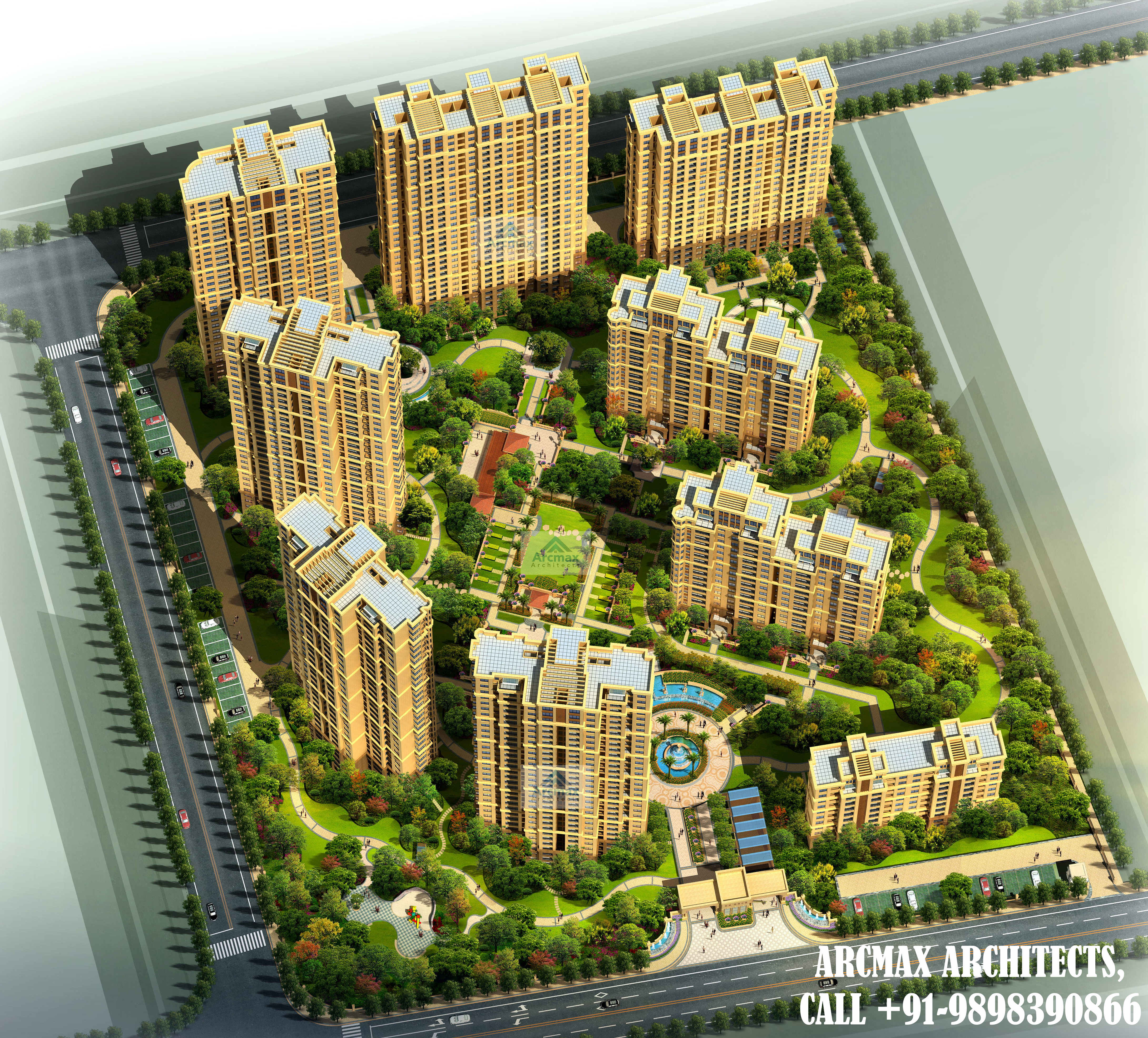 Highrise and multi story building architecture design - ArcMax ...