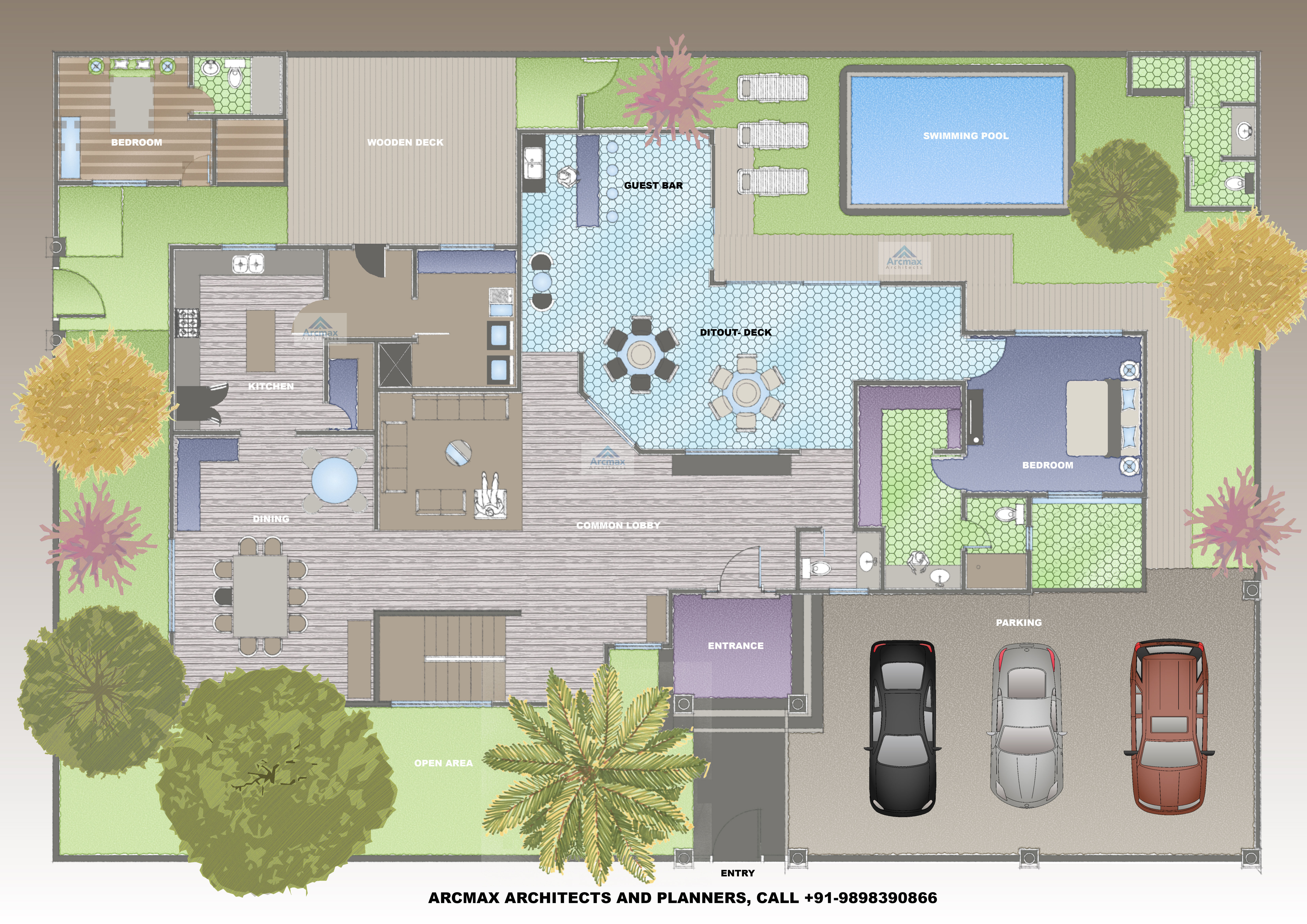 2bhk luxurious villa custom mockup design type 2 anywhere in the world
