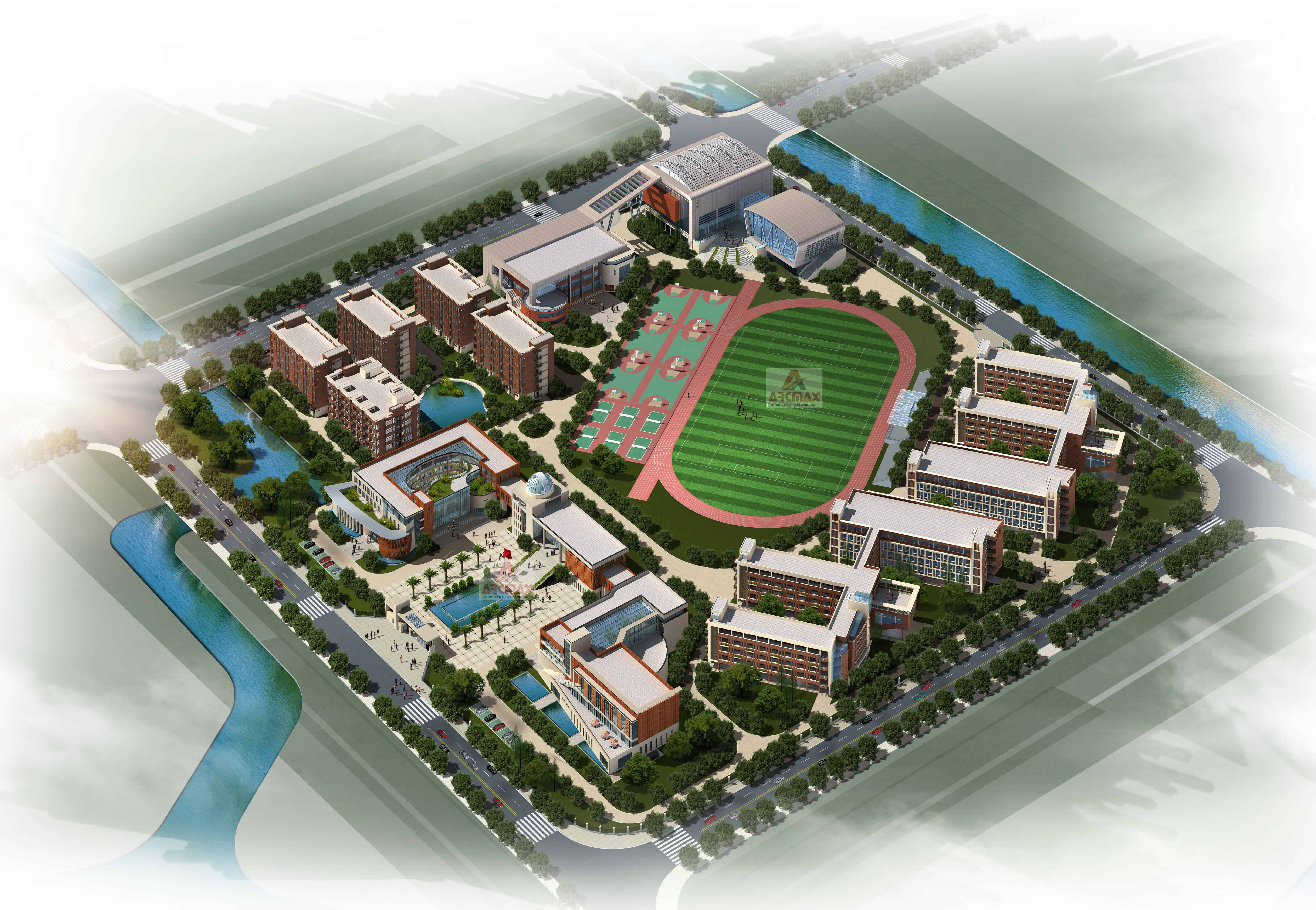 Cbse school building design and planning services including floor plans and elevations