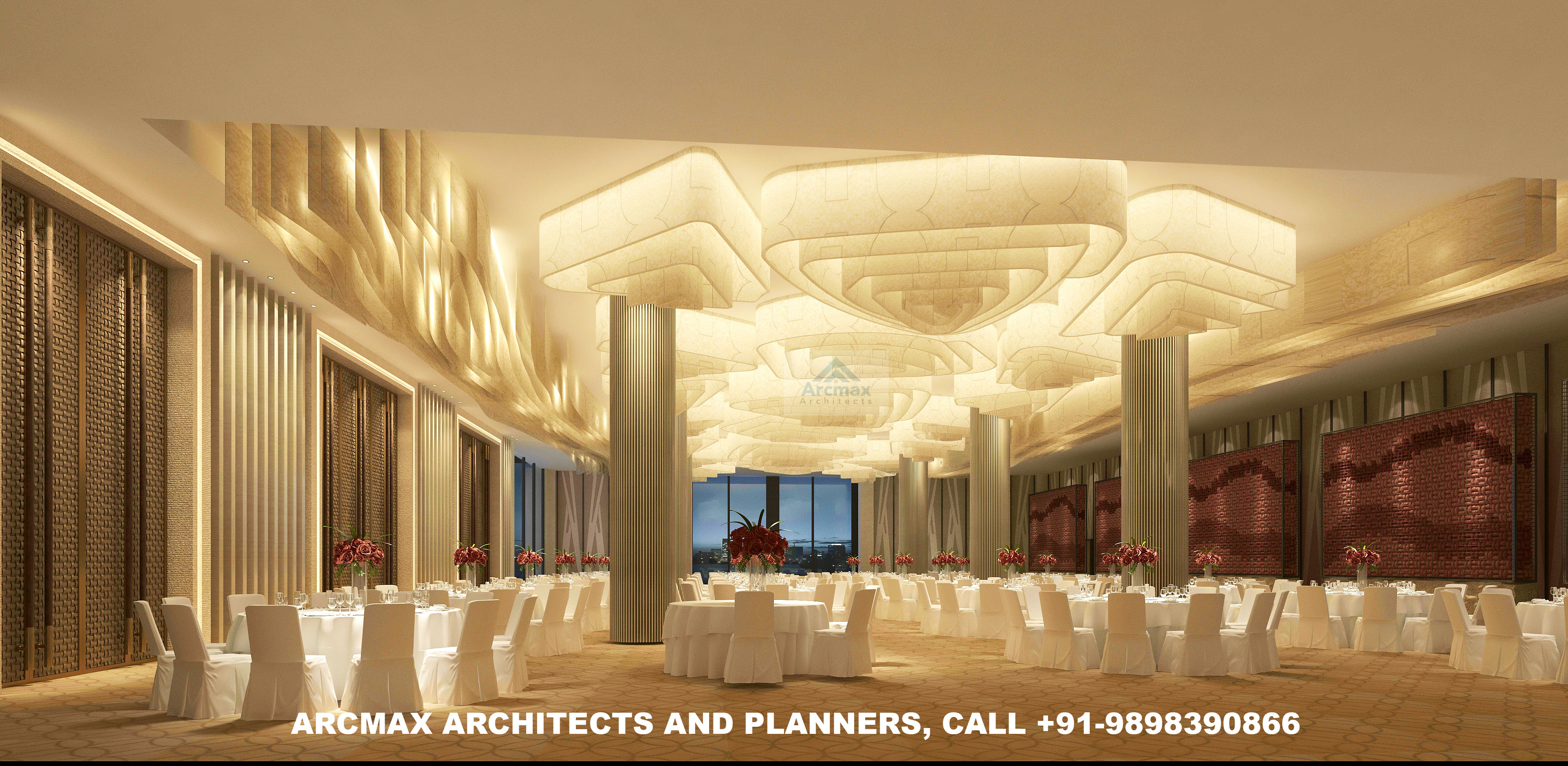 Banquet Hall Design And Planning Online Anywhere In The World Arcmax Architects