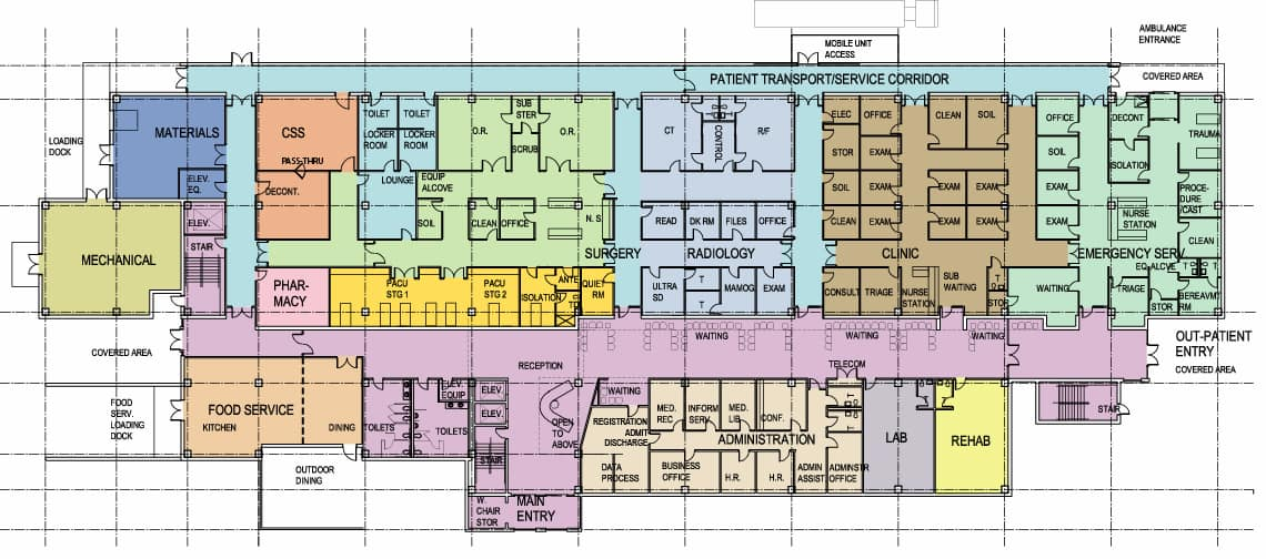 Buy Architectural Plans | Buy Online Hospital Architecture Design Plan Arcmax Architects